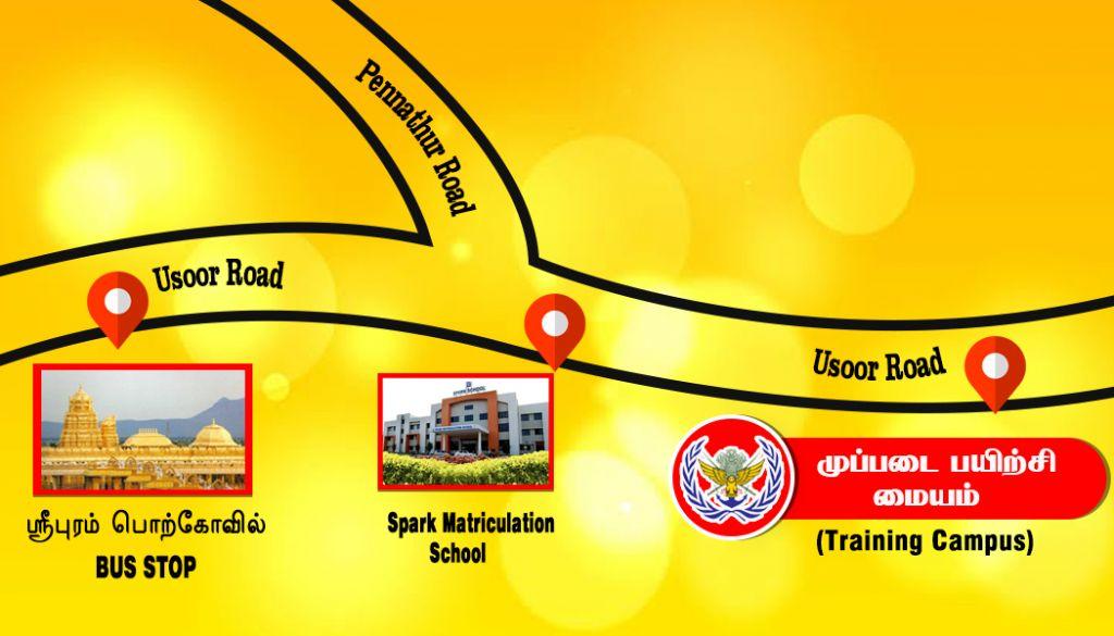 Muppadai Training Campus Map route
